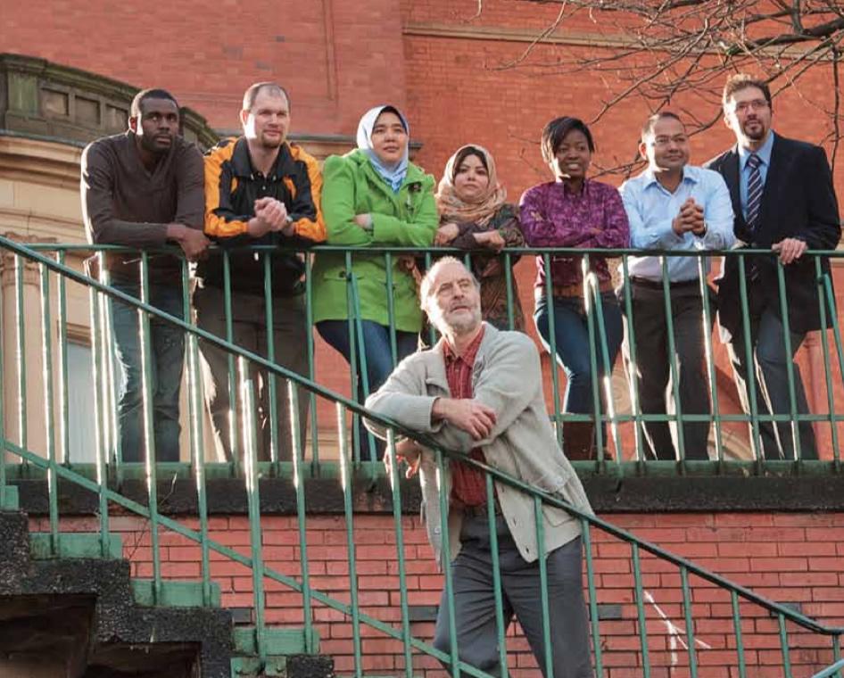 Professor Andrew Basden with postgraduate students