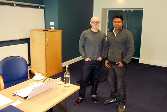 Dave Hazlehurst, director Ph-Creative and Abhijit Das, Salfod MBA student