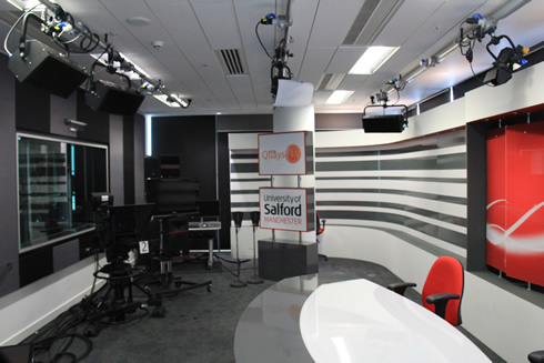 News room inside Media City