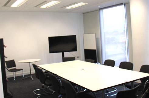 One of the MBA classrooms at Media City UK