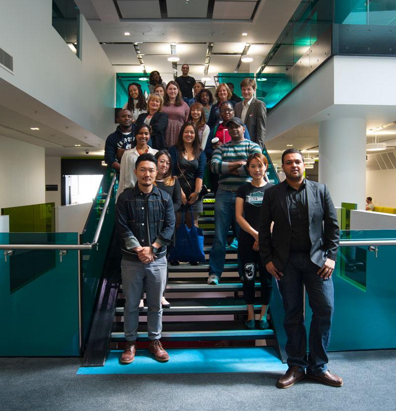 Students at MediaCityUK
