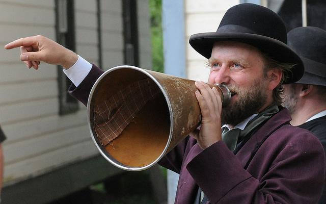 megaphone (CC) by  Mary Ann Clarke SCott