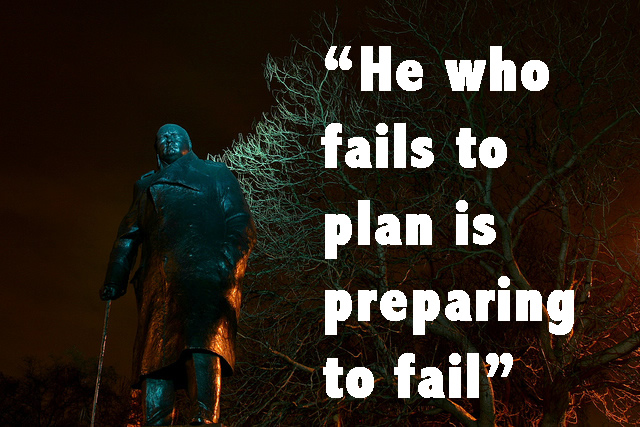 He who fails to plan is planning to fail (CC) by  Malcolm Browne