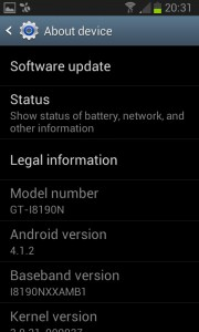 Android operating system version number
