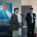 Professor Kurt Allman and Alex Fenton opening Creative Entrepreneur 2014