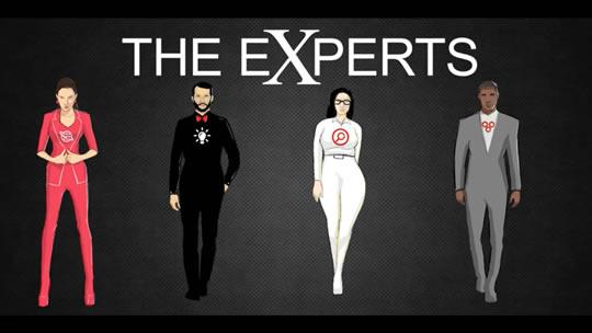 The Experts: left to right: Linda Leader, Sesan Strategist, Riku Researcher, Imran Innovator