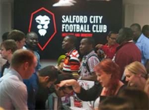 Salford City FC presented at Salford University