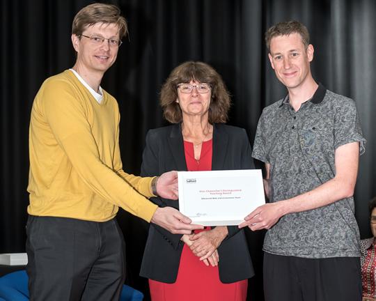 Aleksej Heinze, Helen Marshall and Alex Fenton