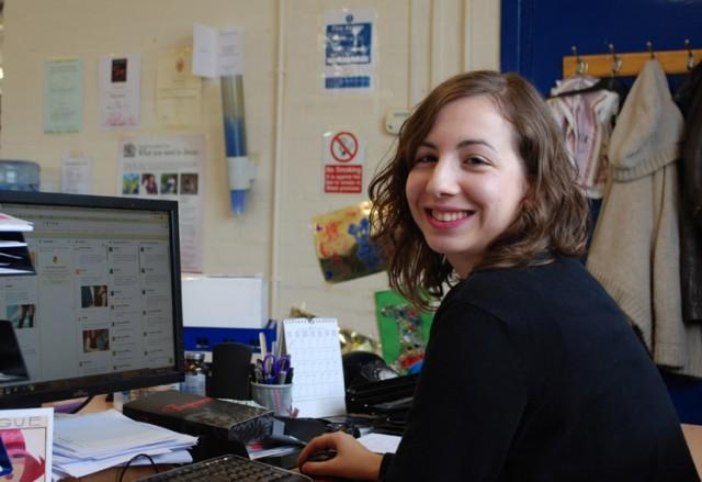 Marta working at UK Tights