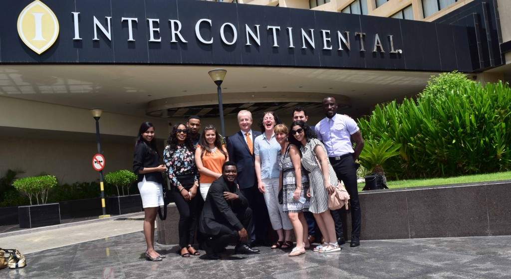 Salford MBA students at the Intercontinental Hotel in UAE