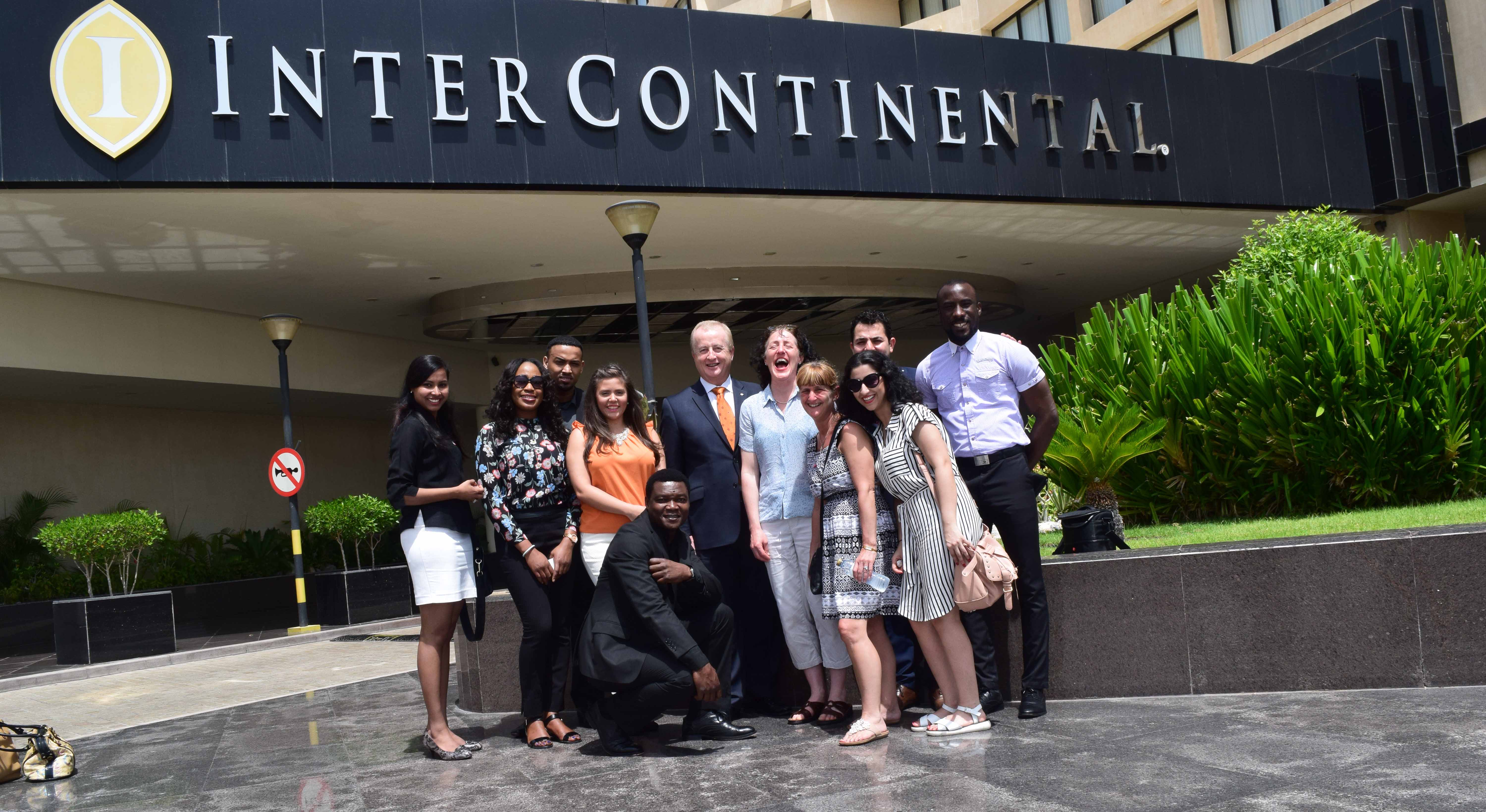 Salford MBA international trip-The Intercontinental Hotel Group