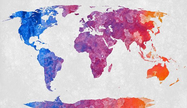 World map- Nicolas Raymond