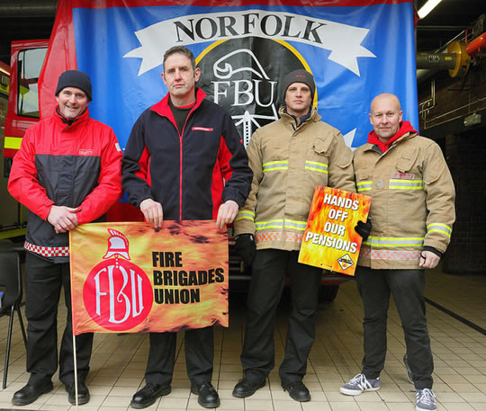 Firefighters strike action (CC) by  Roger Blackwell