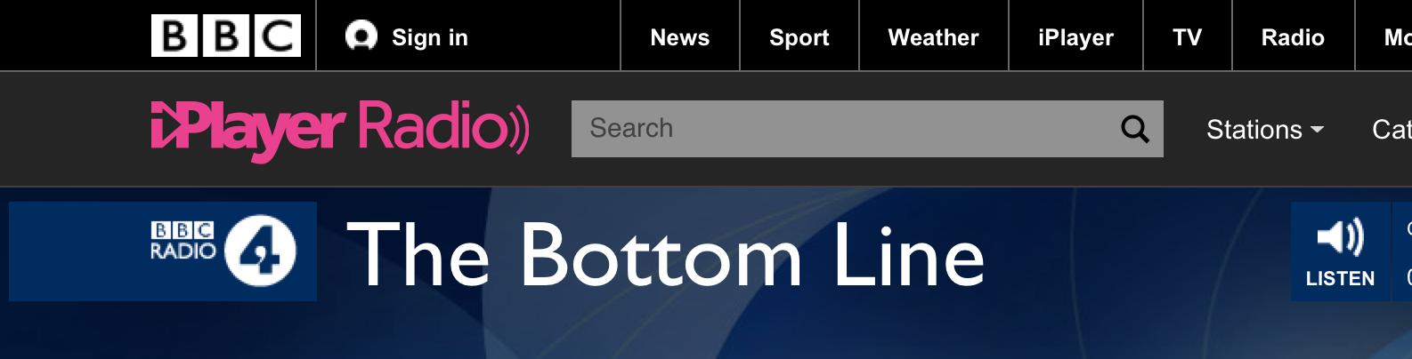 BBC 4 bottom line