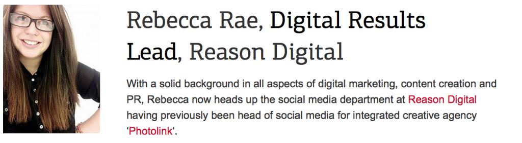 online marketing course tutor Rebecca Rae