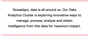 The Aim of the Data Analytics Cluster