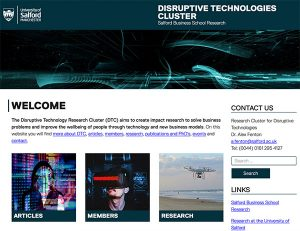 Disruptive Technology Cluster - business school research