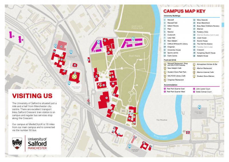 Salford University Map campus map   Cognitive Development Lab   Cognitive Development Lab