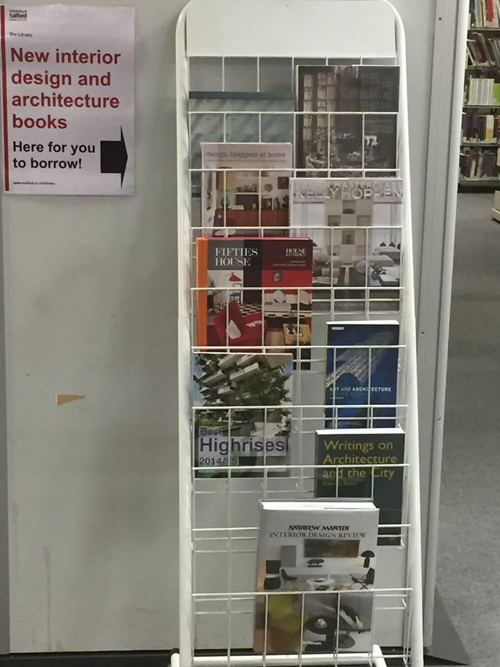 New Interior Design Book Display At Adelphi Library
