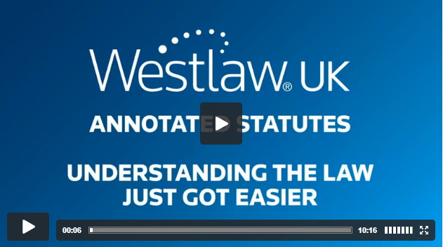 Click on the image to access the video. Select 'Annotated Statutes' from content list.