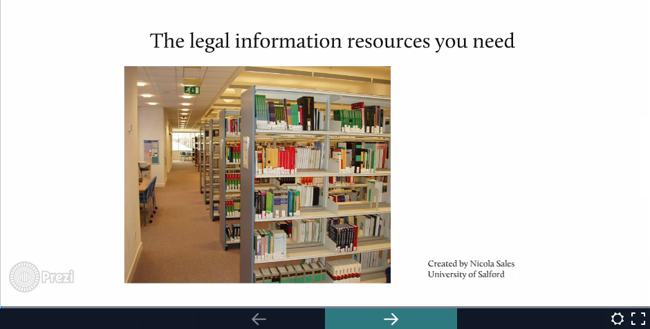 Access presentation on what legal information resources you need for your law degree