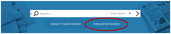 Image of Newsstand search screen