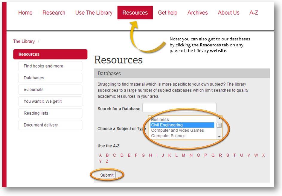 database lists