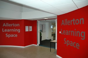 Find the Learning Space on the first floor of the Allerton Building, near the concourse area.