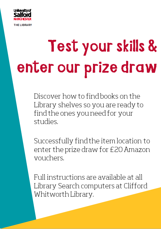 Test your skills in locating items in the Library and enter the prize draw to win £20 in Amazon vouchers.