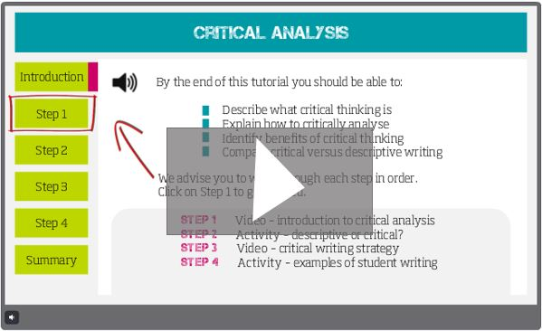 Play Critical Analysis e-Learning
