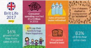 Mintel infograpgh summarising British Lifestyles Report