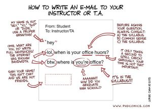 Email etiquette cartoon