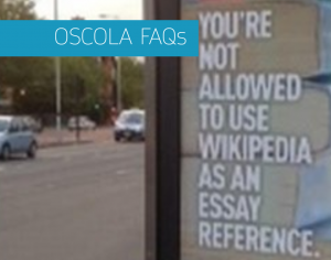 Image of front screen of OSCOLA FAQ presentation
