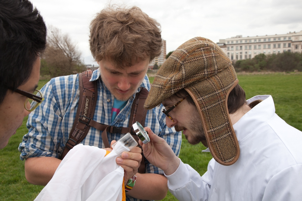 Oliver Bishop leading our first Bee Safari
