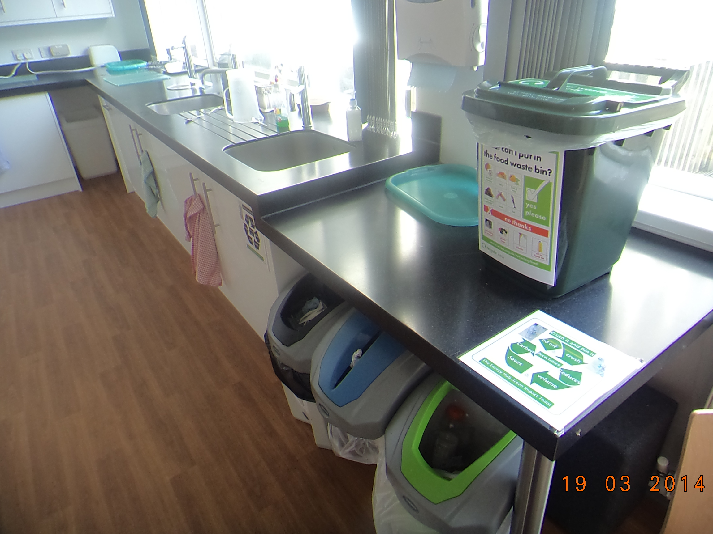 Crescent House composting bin takes pride of place!