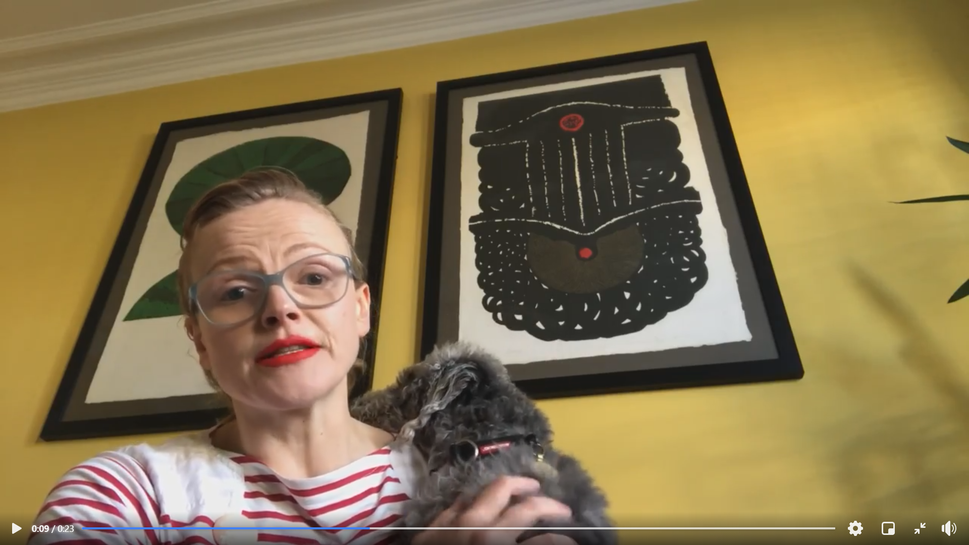 A still image from a video provided by actress Maxine Peake where she thanks key workers from the university community