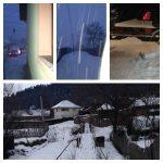 White winter in Romania