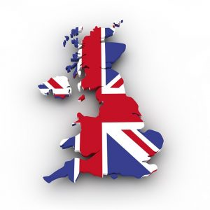 The United Kingdom map