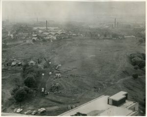 Site of Clifford Whitworth library prior to construction, c1968.