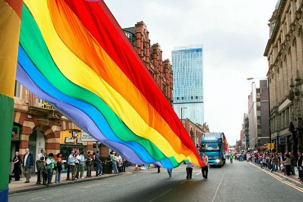 An image of the Pride Festival taking place in Manchester