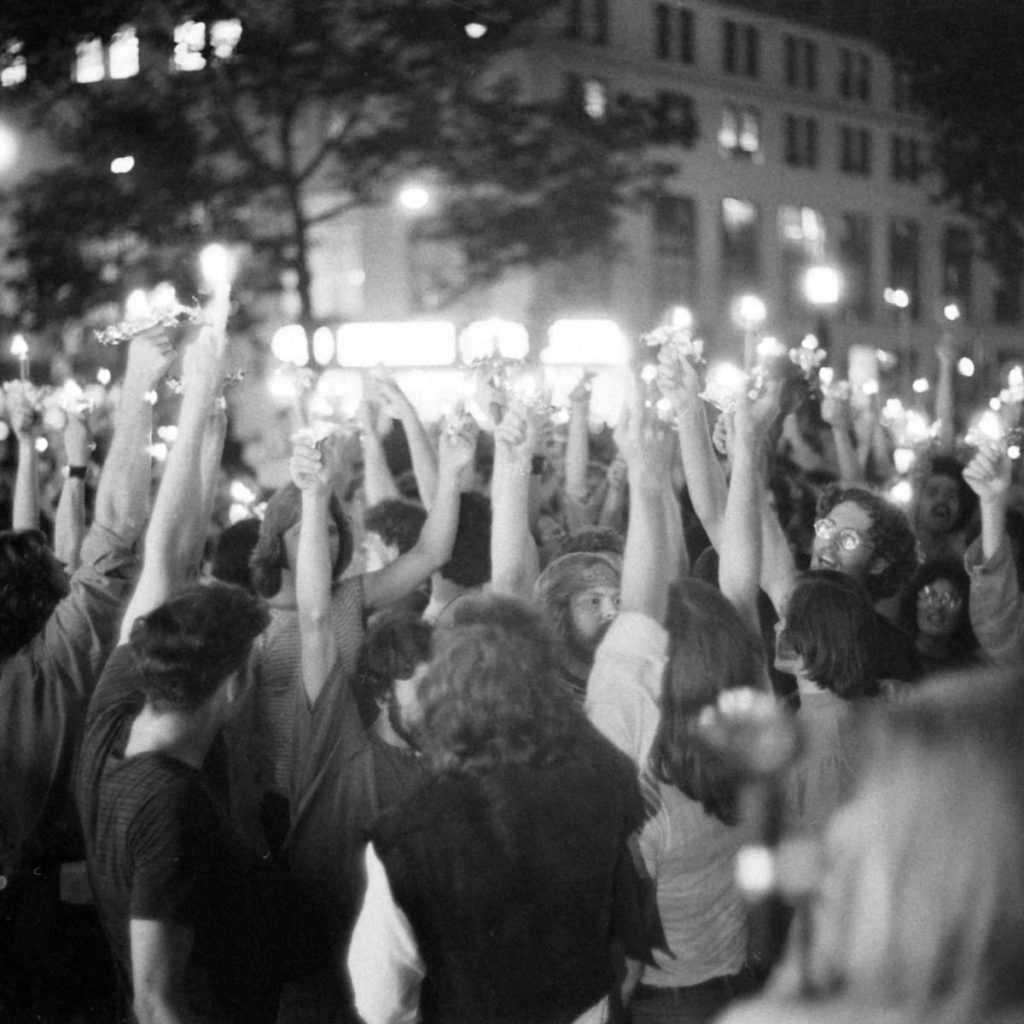 An image of the Stonewall Riots.