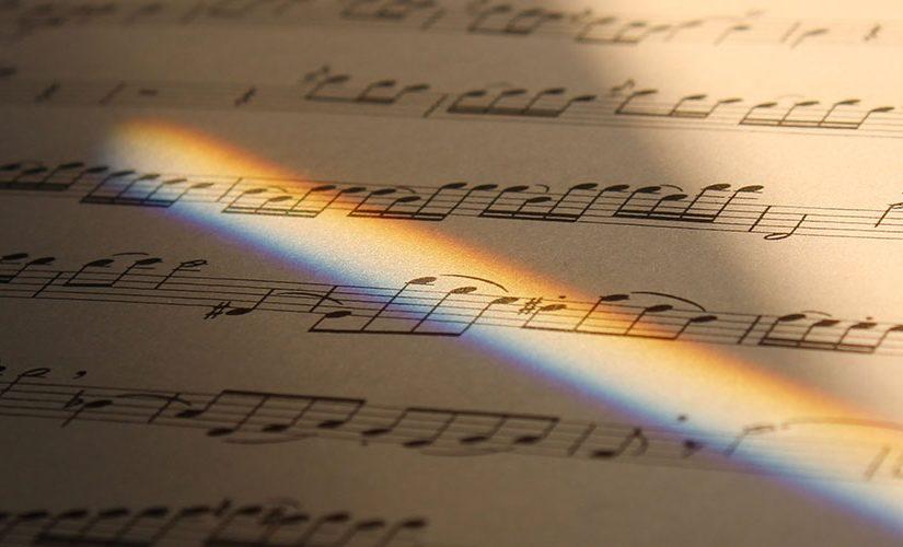 A sheet of music