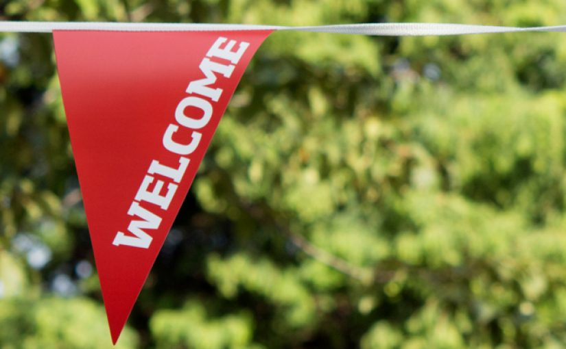 University of Salford 'Welcome' bunting