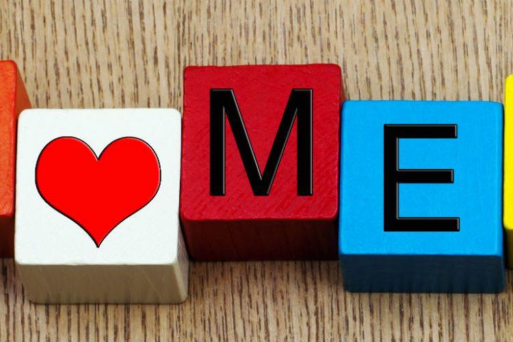 """""""I love me"""" building blocks"""