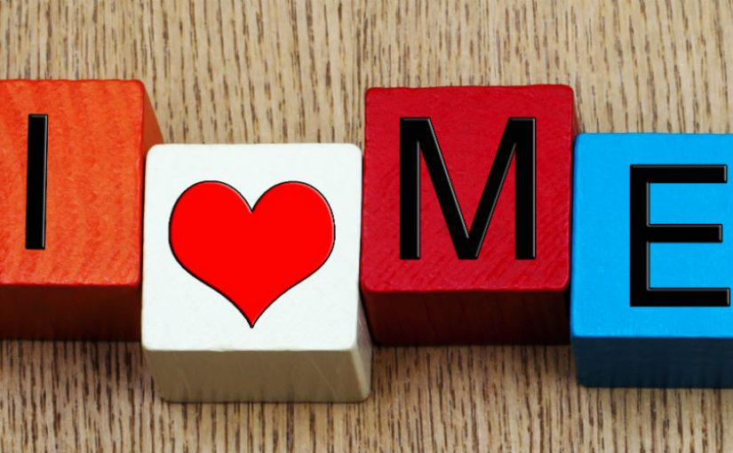 """I love me"" building blocks"