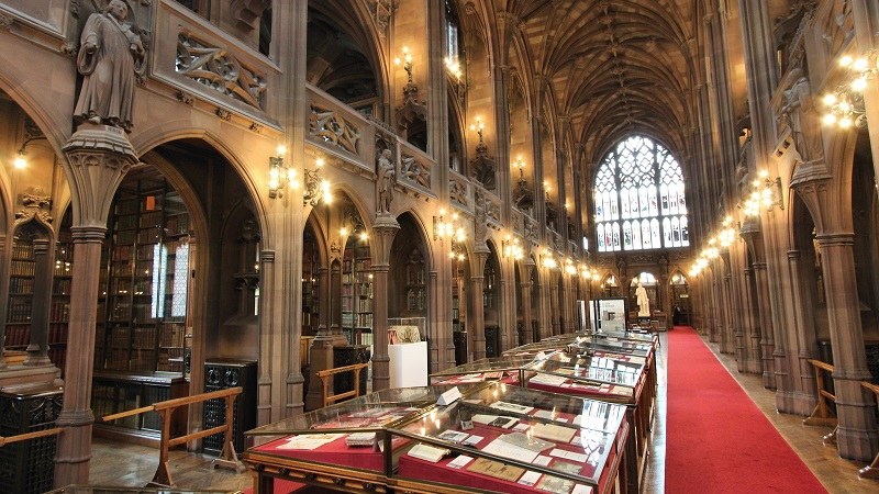 The John Rylands Library.