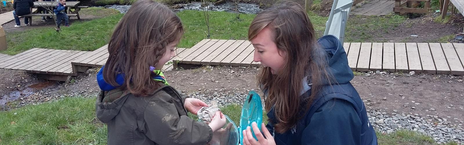 Lori working with wildlife