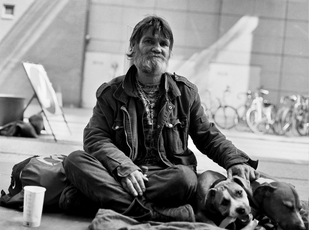 Image: Homeless man with dog