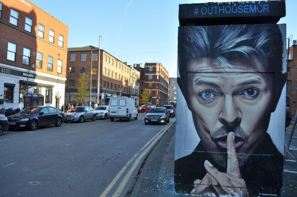 David Bowie portrait in Stevenson Square