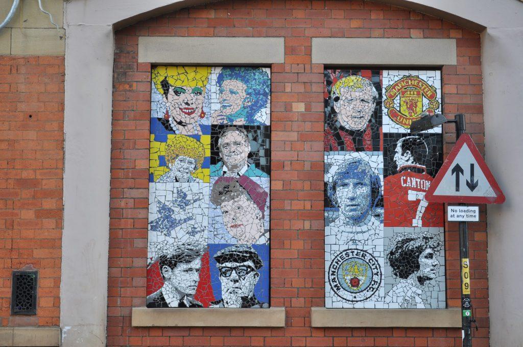 Manchester-inspired mosaics on Afflecks Palace